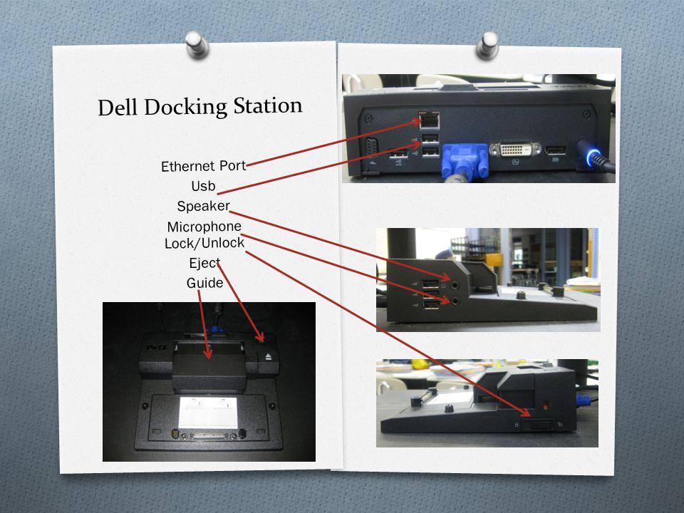 Dell Docking Station Ethernet Port Usb Speaker Microphone Lock/Unlock Eject Guide