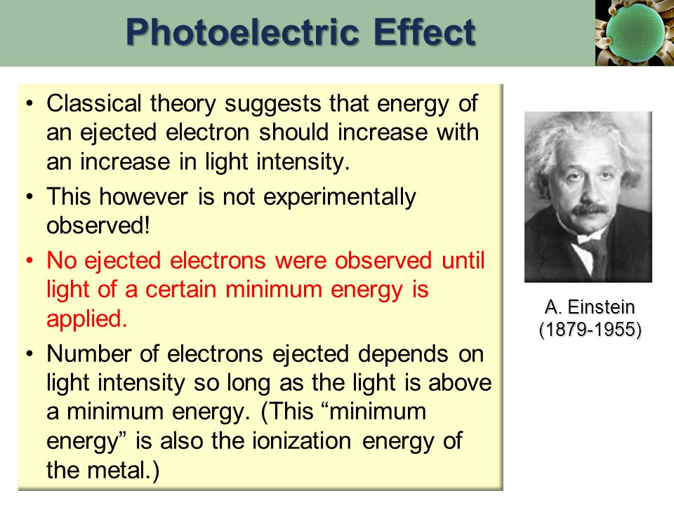 Classical theory suggests that energy of an ejected electron should increase with an increase in light intensity.