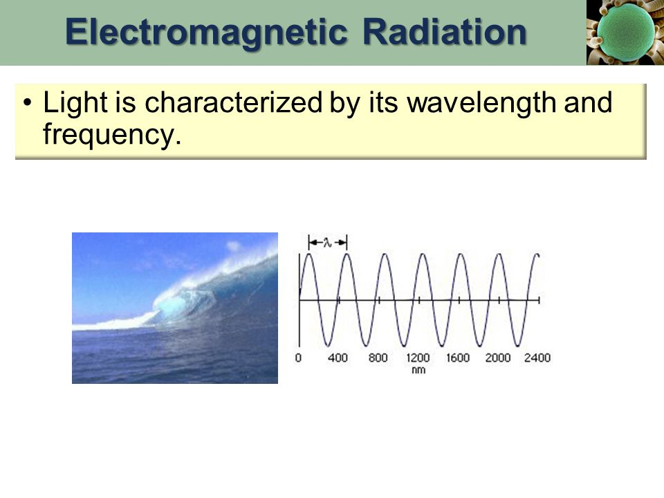 Light is characterized by its wavelength and frequency. Electromagnetic Radiation