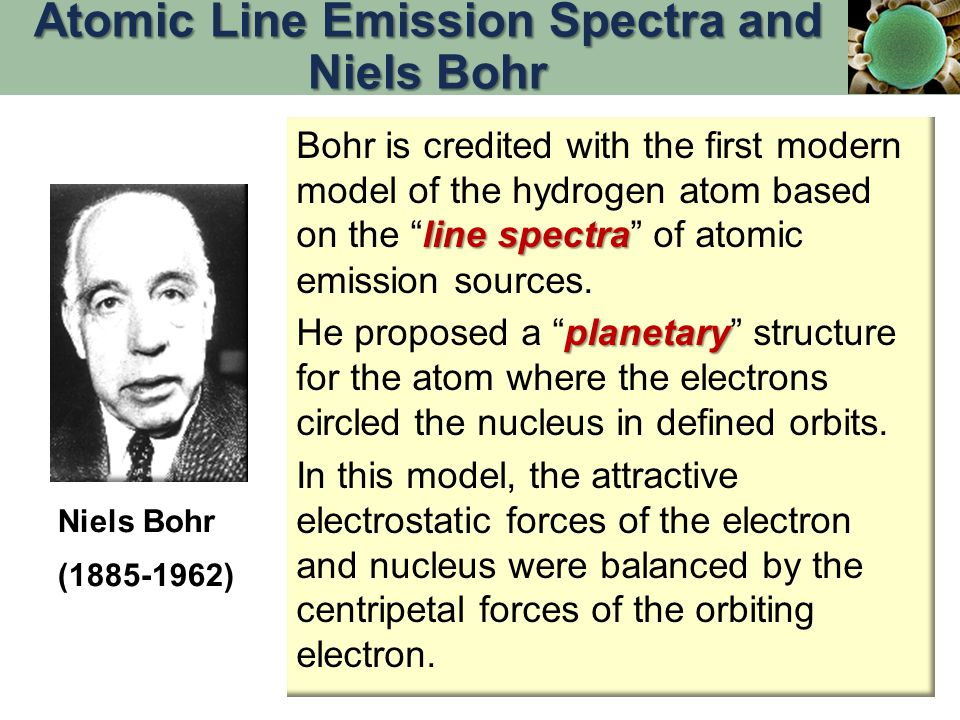 line spectra Bohr is credited with the first modern model of the hydrogen atom based on the line spectra of atomic emission sources.