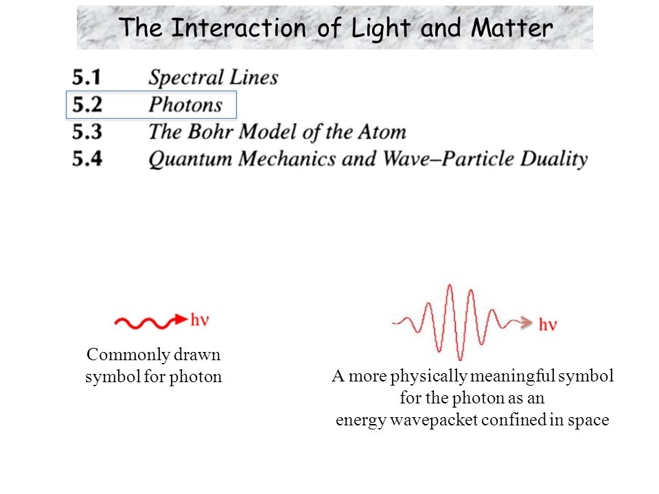The Compton Effect  If as Einstein proposed light comprises massless photons, then from the Theory of Special Relativity the (linear) momentum carried by each photon is related to its energy by (c.f., Eq.