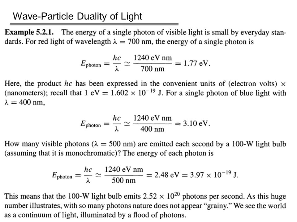 Wave-Particle Duality of Light