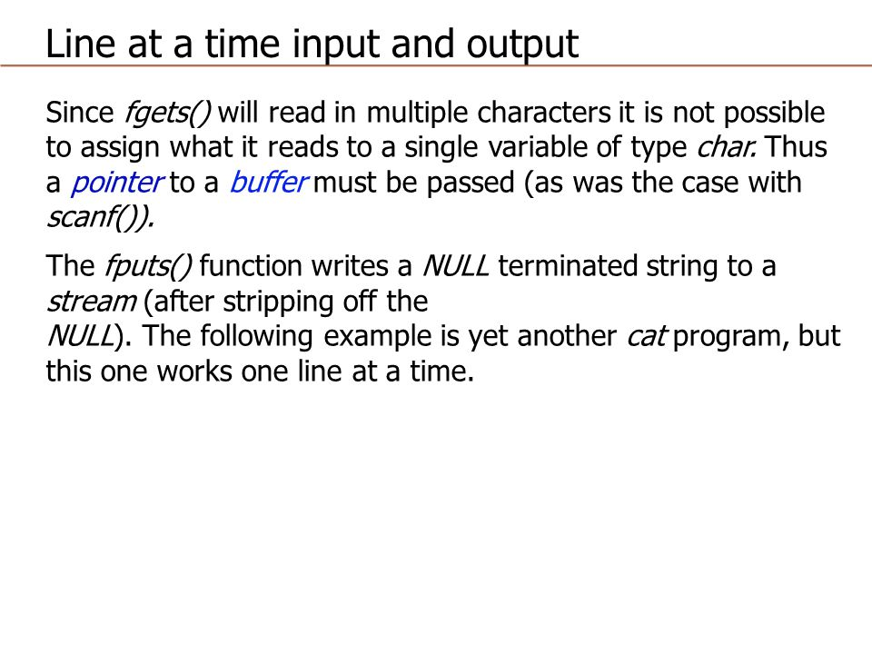 Since fgets() will read in multiple characters it is not possible to assign what it reads to a single variable of type char.