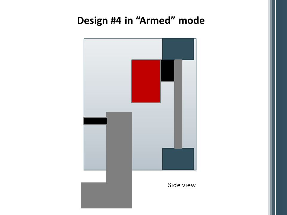Design #4 in Armed mode Side view