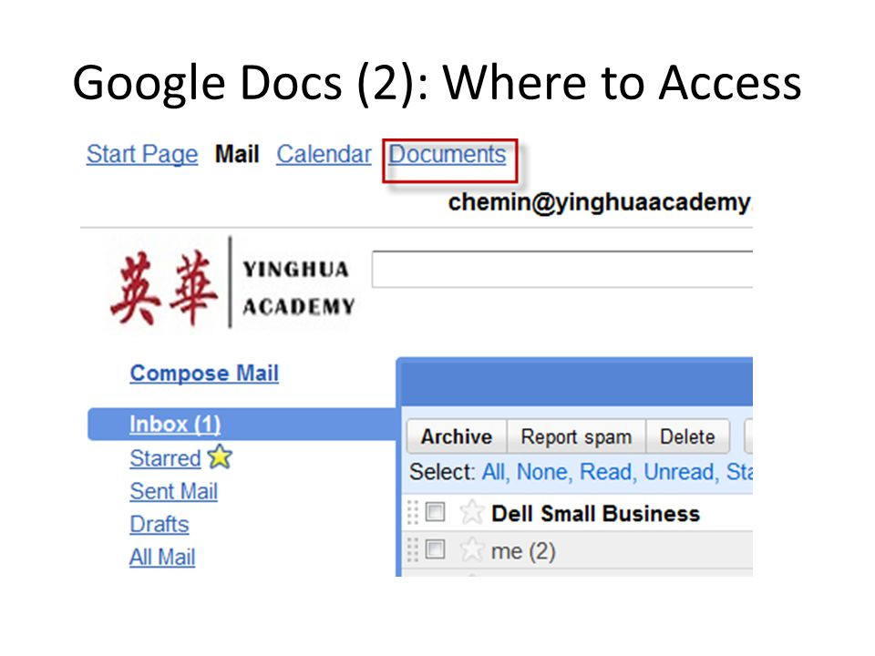 Google Docs (2): Where to Access