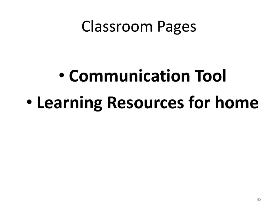 Classroom Pages Communication Tool Learning Resources for home 48