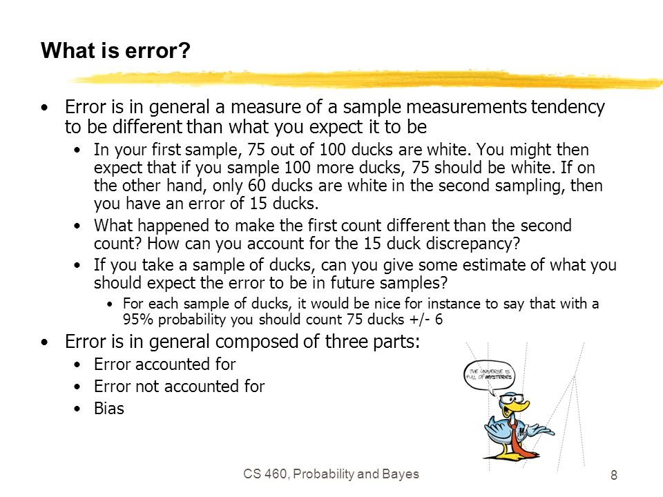 8 What is error.