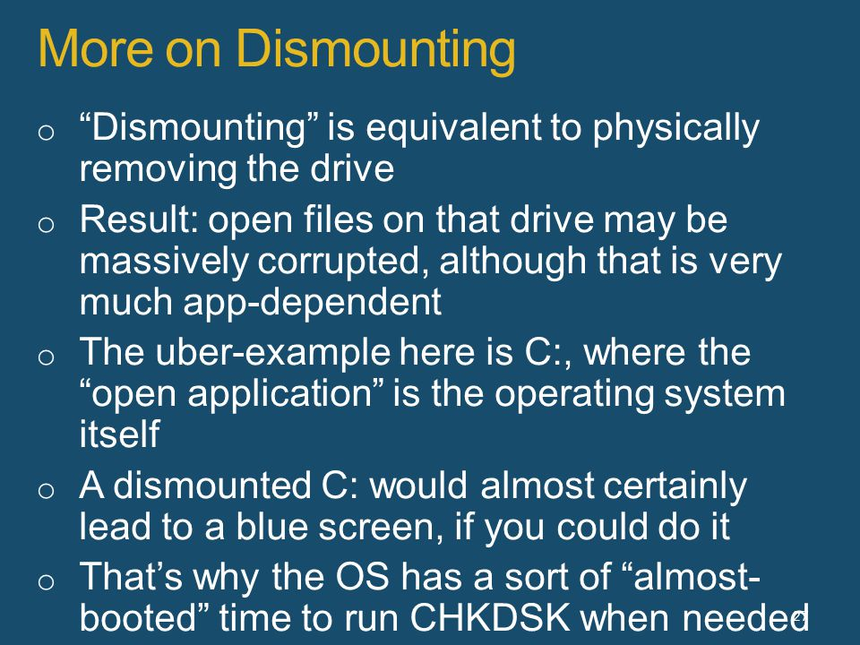 More on Dismounting 27