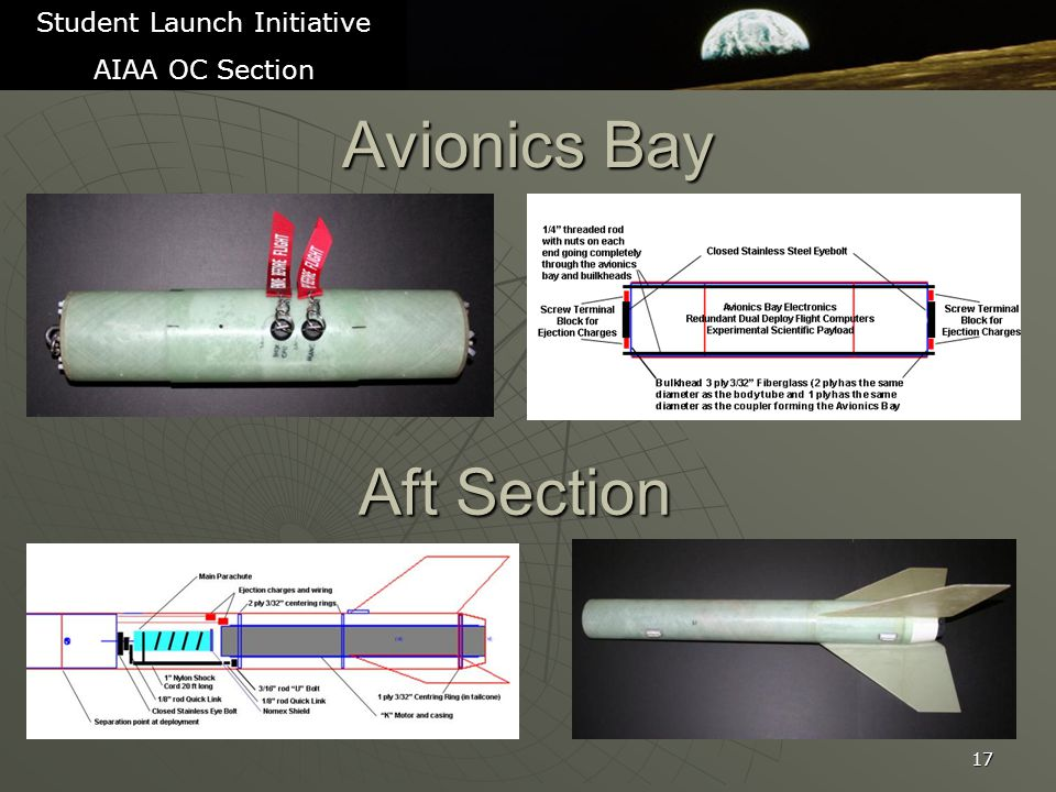 Avionics Bay 17 Student Launch Initiative AIAA OC Section Aft Section