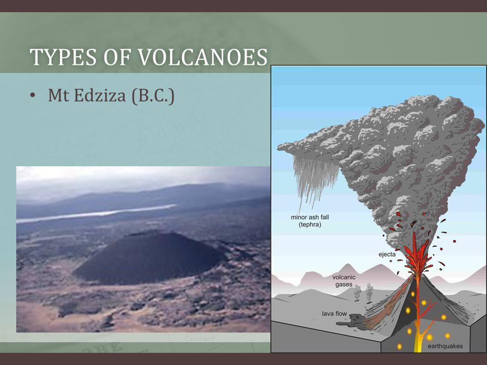 TYPES OF VOLCANOESTYPES OF VOLCANOES Mt Edziza (B.C.)