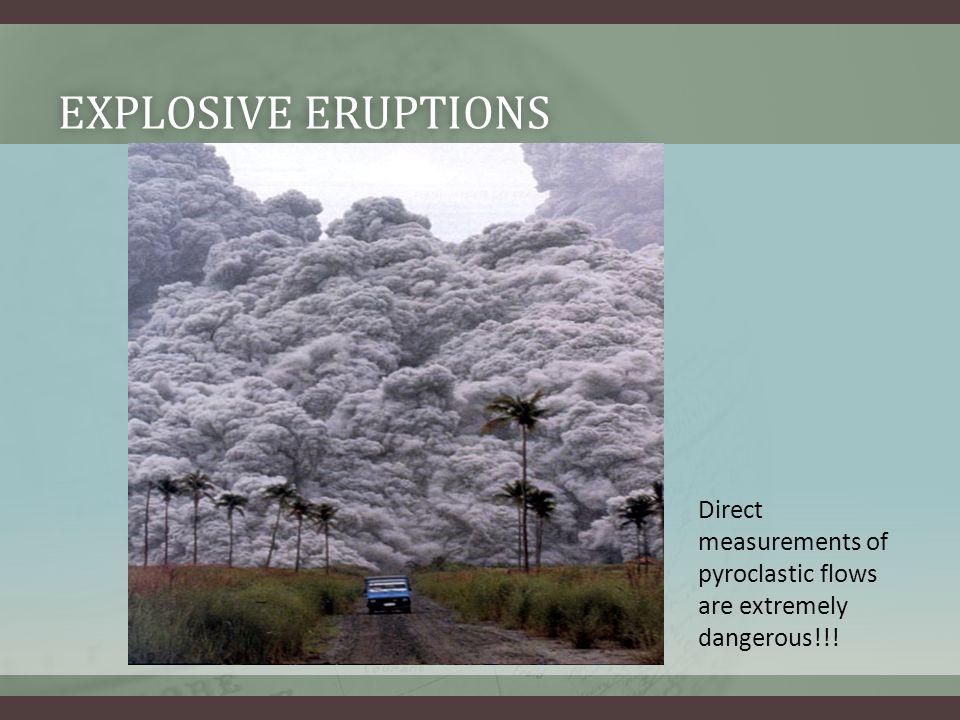TYPES OF ERUPTIONSTYPES OF ERUPTIONS Effusive eruptions release small amounts of gas and (or) low viscosity (runny) magma (Basaltic magma).