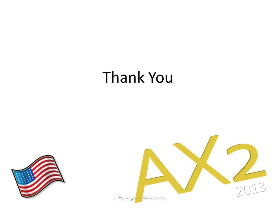 Thank You J. Sprenger & Associates