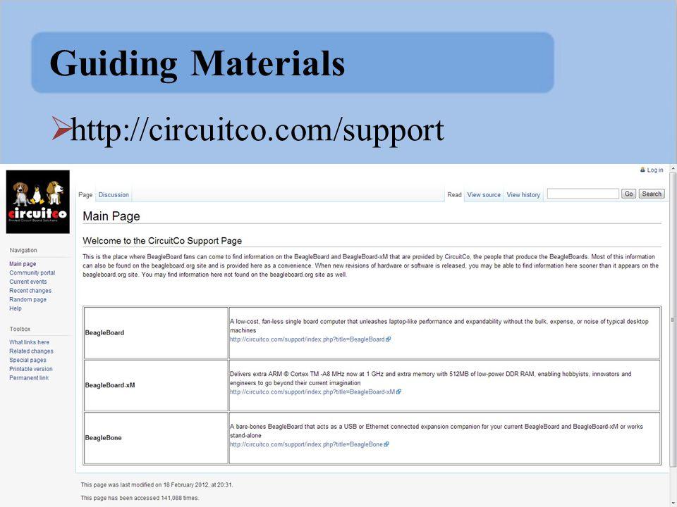 Guiding Materials  http://circuitco.com/support
