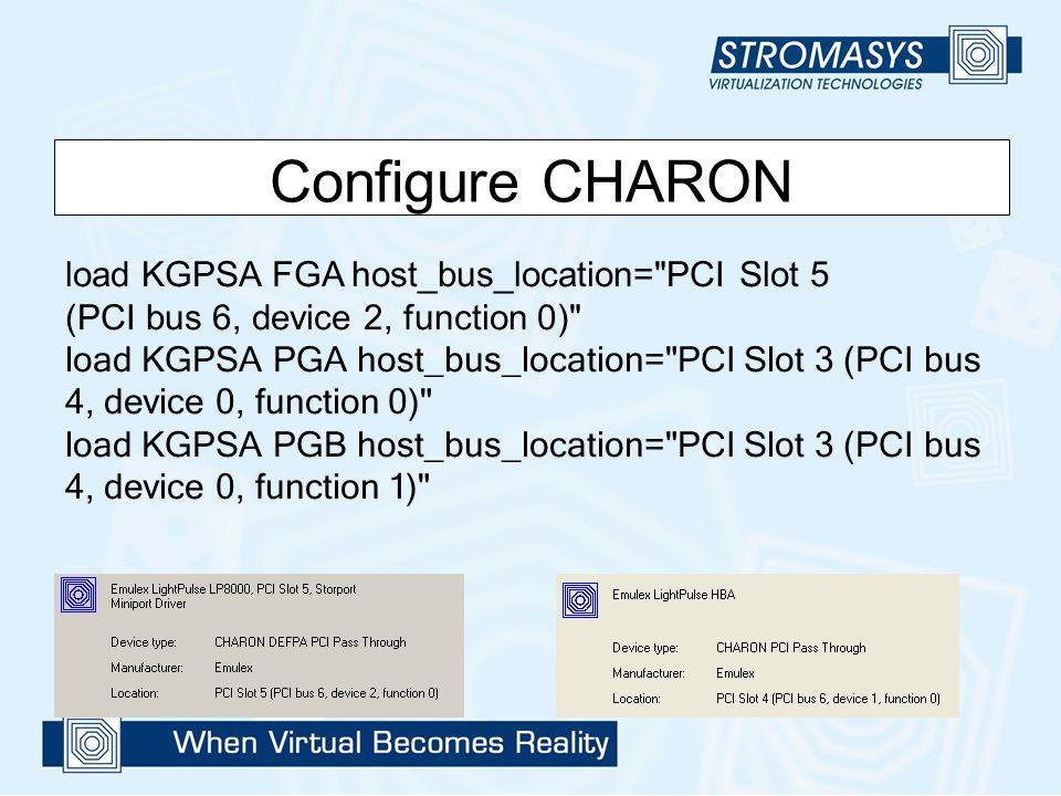 Configure CHARON load KGPSA FGA host_bus_location=