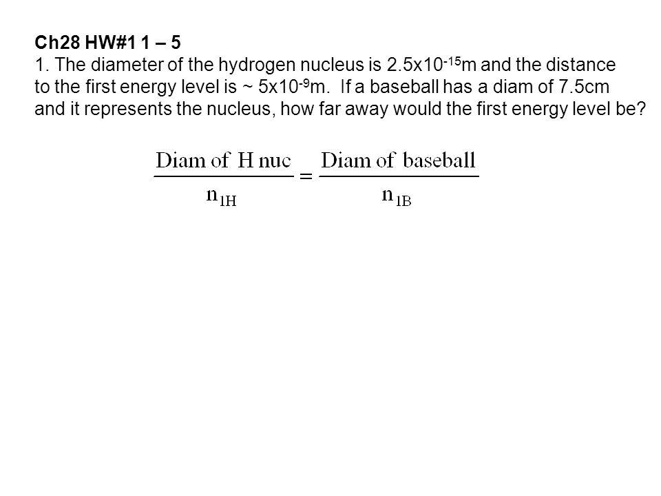 Ch28 HW#1 1 – 5 1.