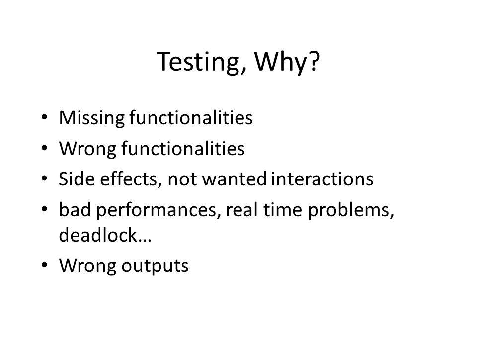Testing, Why.