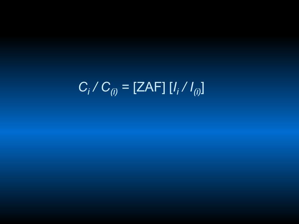 C i / C (i) = [ZAF] [I i / I (i) ]