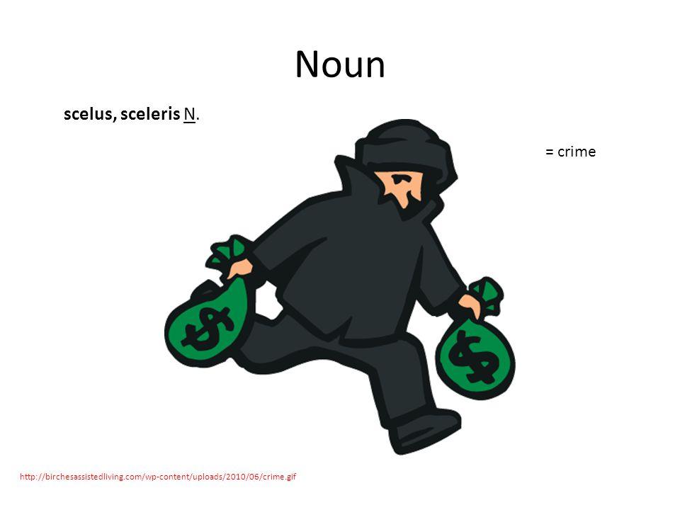 Noun scelus, sceleris N.