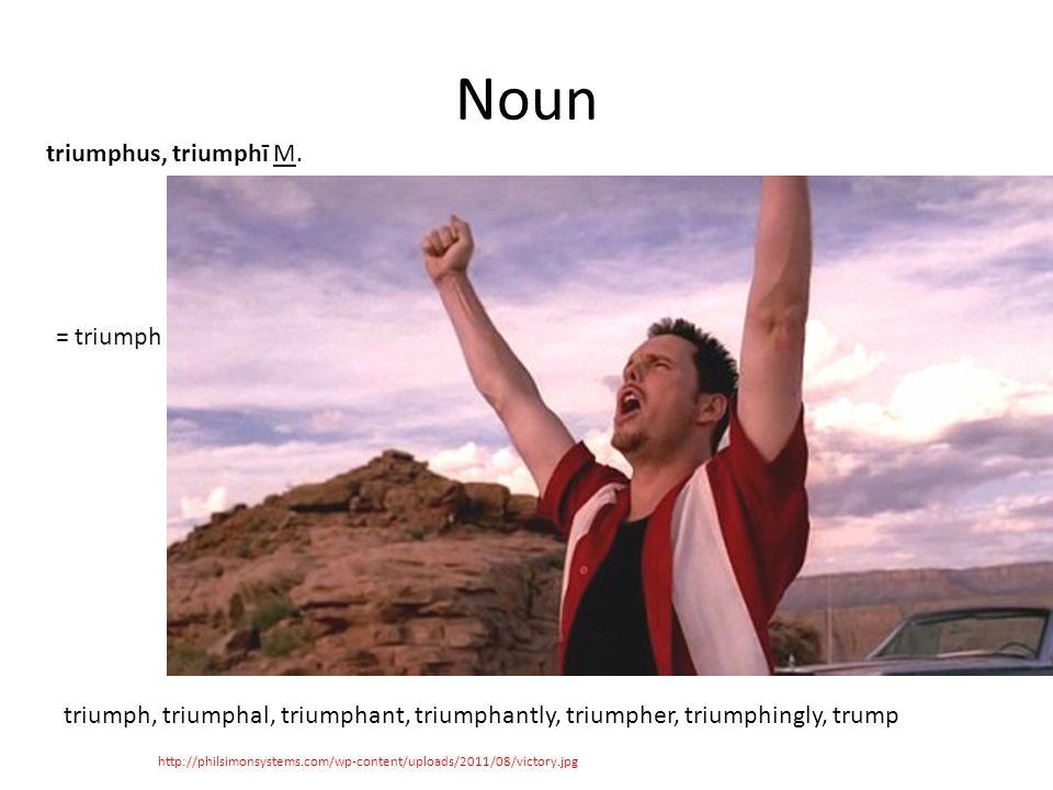 Noun http://philsimonsystems.com/wp-content/uploads/2011/08/victory.jpg triumphus, triumphī M.