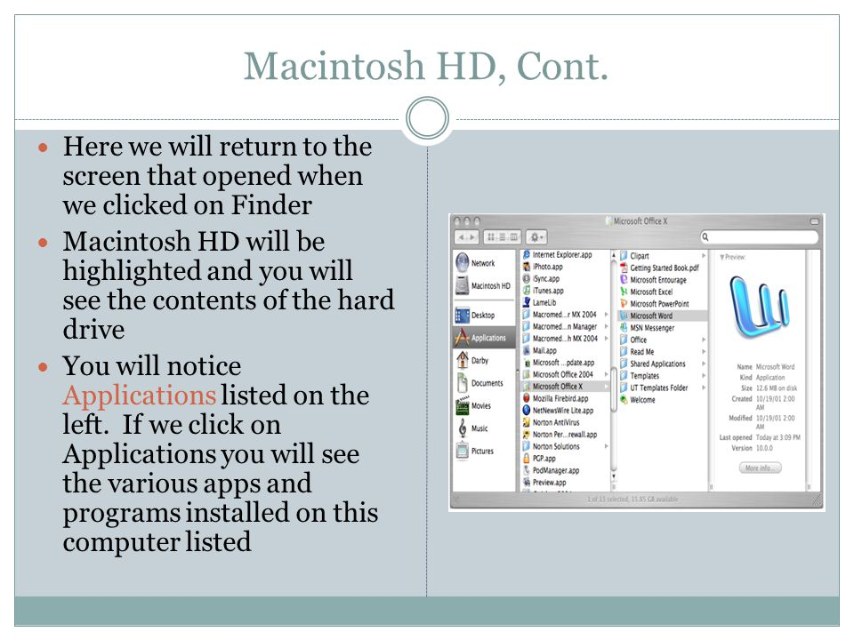 Macintosh HD, Cont.