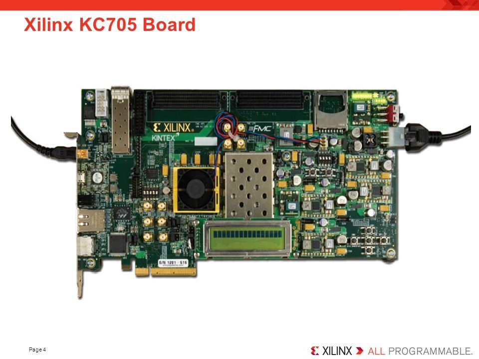 Page 4 Xilinx KC705 Board