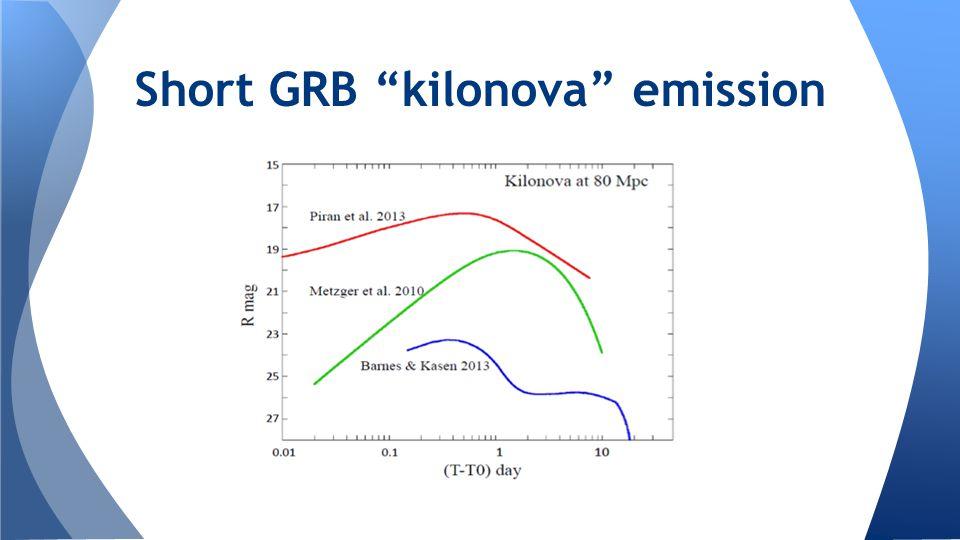 Short GRB kilonova emission