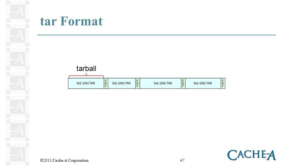 tar Format ©2011 Cache-A Corporation#7 tarball