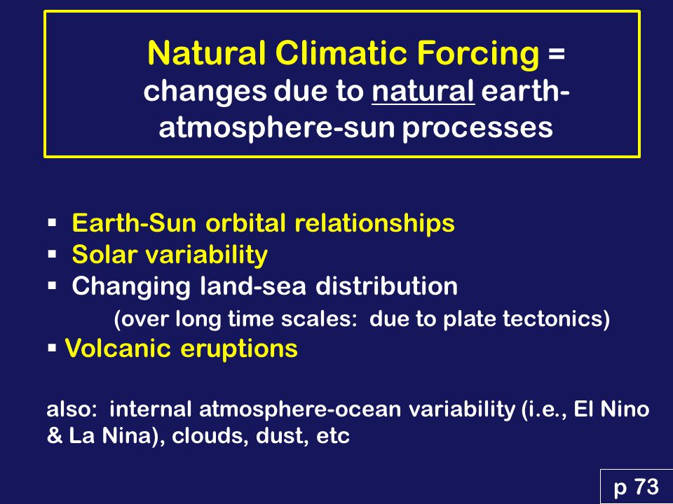 NATURAL CLIMATIC FORCING vs. ANTHROPOGENIC FORCING