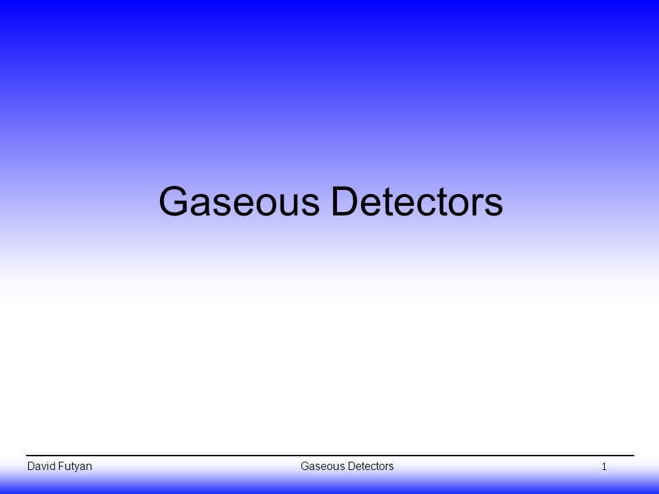 David Futyan Overview Basic principles Avalanche multiplication (increasing the signal) Time evolution of the signal Gas mixtures Wire chamber detectors: Multiwire proportional chambers (MWPCs) Drift chambers Cathode strip chambers Time projection chambers (TPCs) Recent developments: Microstrip gas chambers (MSGCs) Gas electron multipliers (GEMs) 2