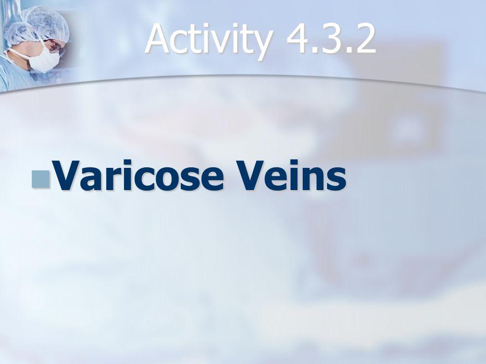 Activity 4.3.2 Varicose Veins Varicose Veins