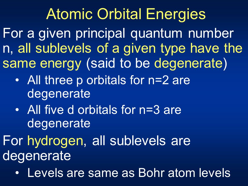 Rules for Filling Orbitals (1) Aufbau principle – one by one build up Each electron occupies lowest energy orbital available Energy level order determ