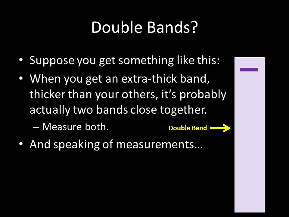 Double Bands.