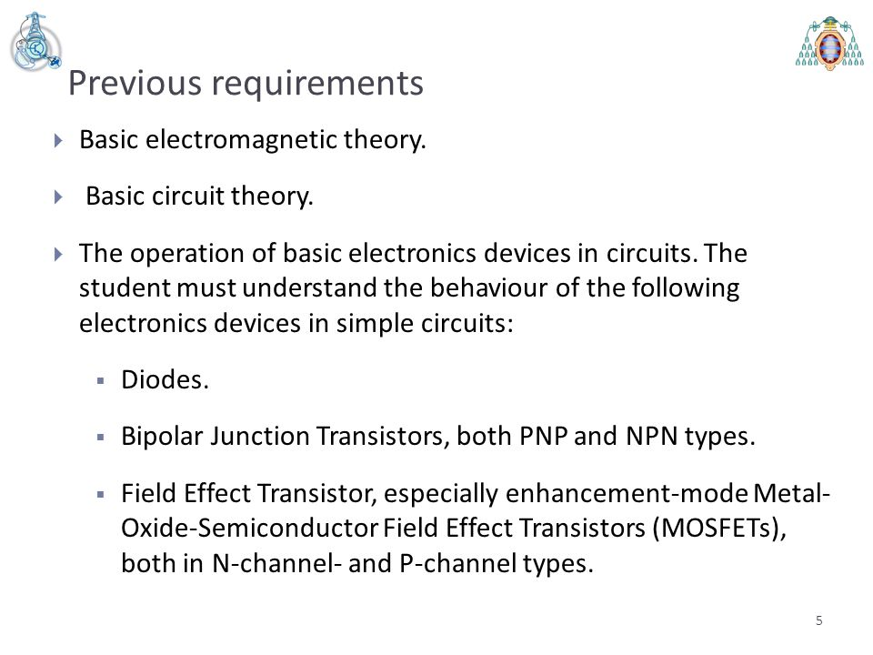 Lesson 1 - Review of the physical principles of operation of semiconductor devices Semester 1 - Power Electronics Devices Electrical Energy Conversion and Power Systems Universidad de Oviedo 6