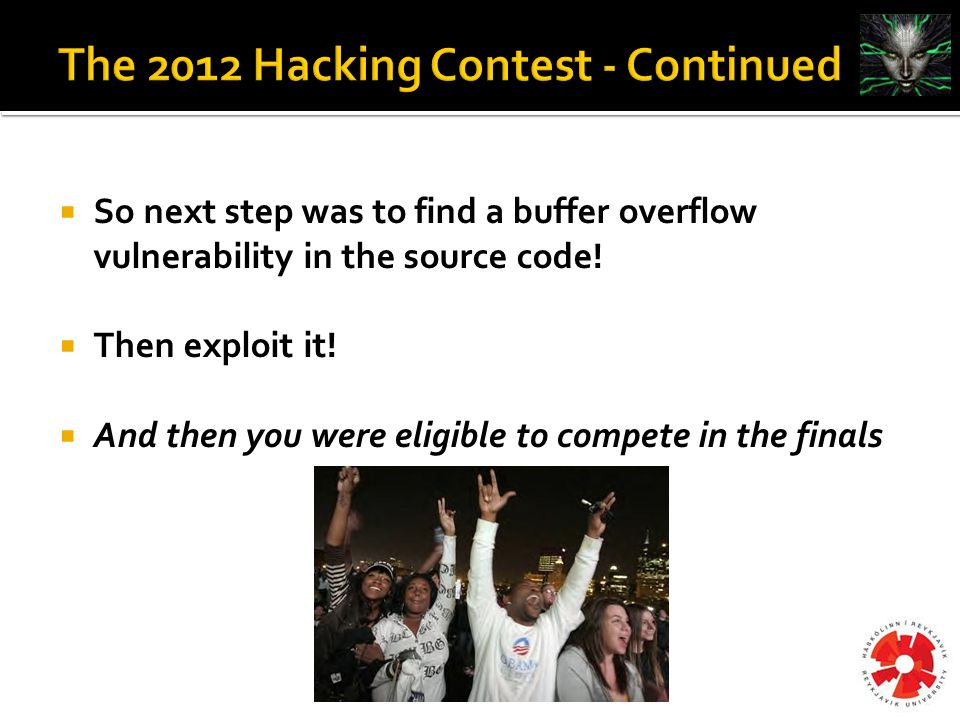  So next step was to find a buffer overflow vulnerability in the source code.