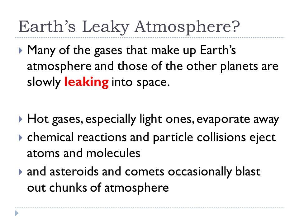 Earth's Leaky Atmosphere.