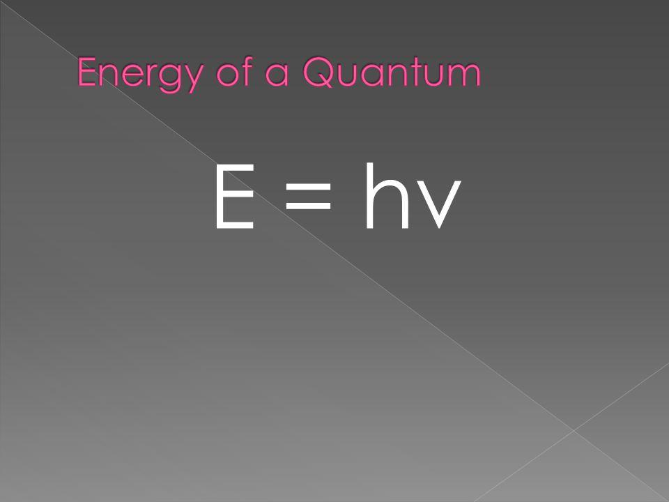 E = hν