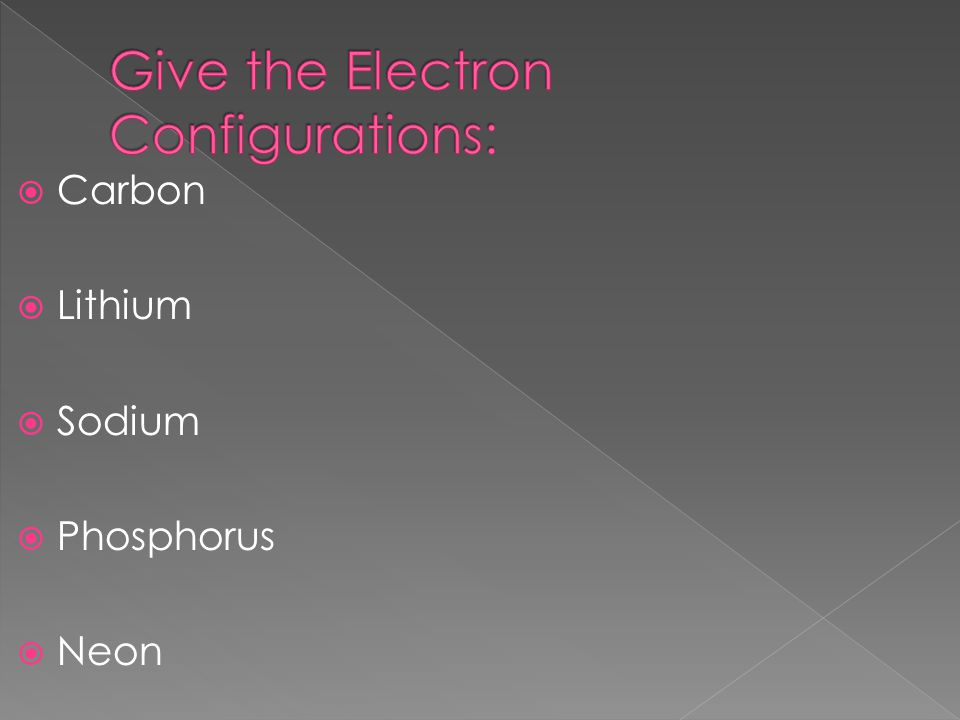  Carbon  Lithium  Sodium  Phosphorus  Neon