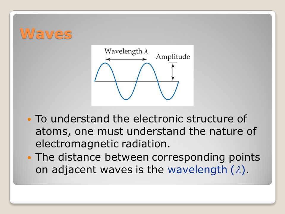 Waves The number of waves passing a given point per unit of time is the frequency ().