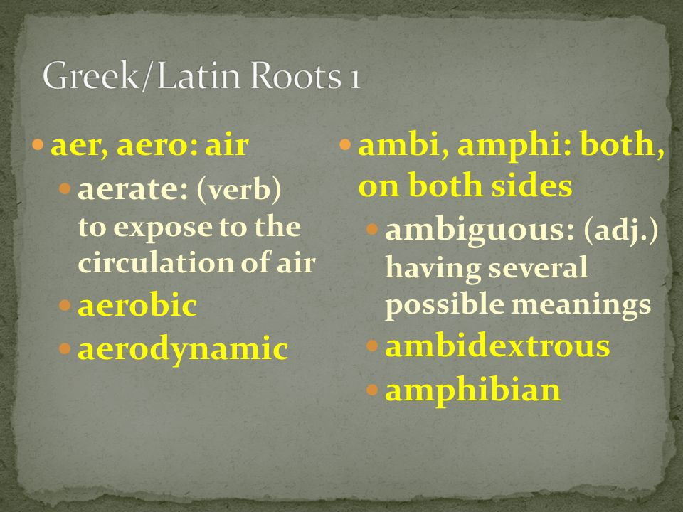 Create FLASH CARDS to help you study for the Roots Unit 2 Test on FRIDAY.