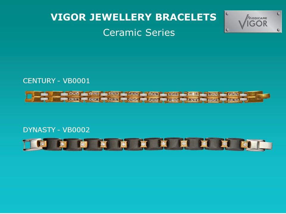 VIGOR JEWELLERY BRACELETS Ceramic Series CENTURY - VB0001 DYNASTY - VB0002