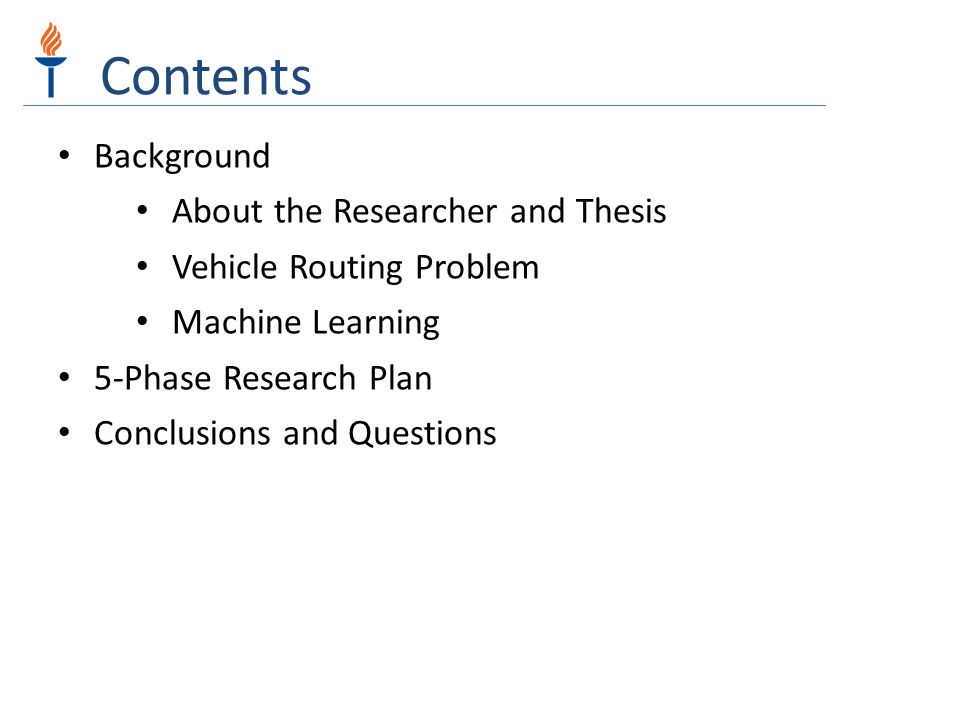 Background Applications of Machine Learning in Solving Vehicle Routing Problem