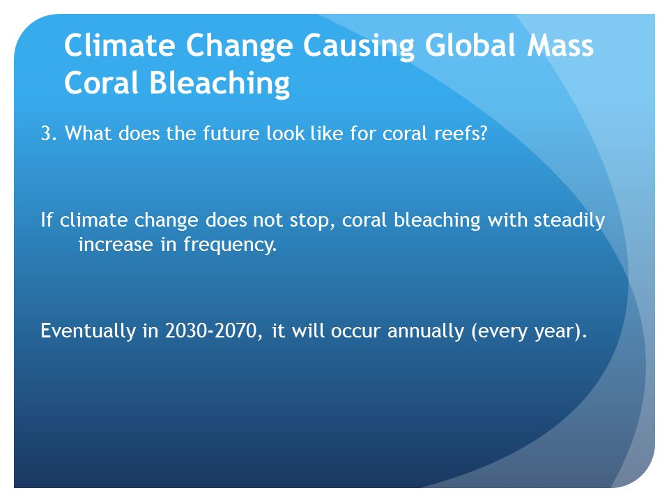 Climate Change Causing Global Mass Coral Bleaching 3.