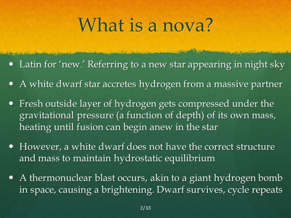 What is a nova.