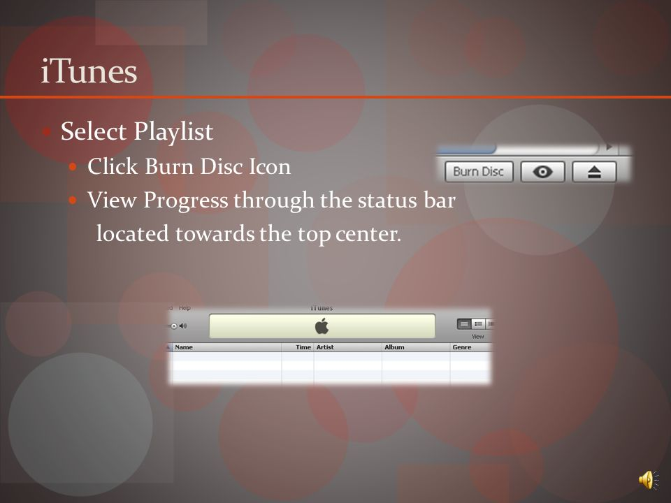 iTunes Burning Options Edit  Preferences  Advanced  Burning  DATA  AUDIO  MP3 Choose settings  Click ok