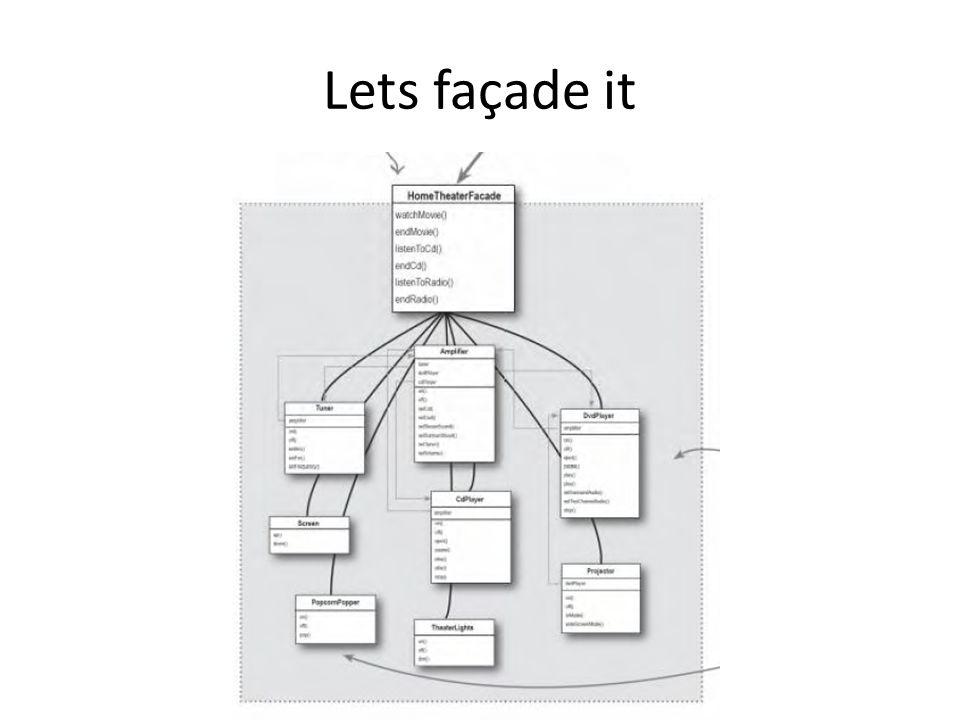 Lets façade it