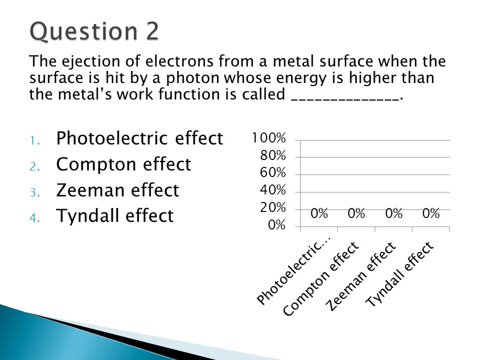 The ejection of electrons from a metal surface when the surface is hit by a photon whose energy is higher than the metal's work function is called ______________.