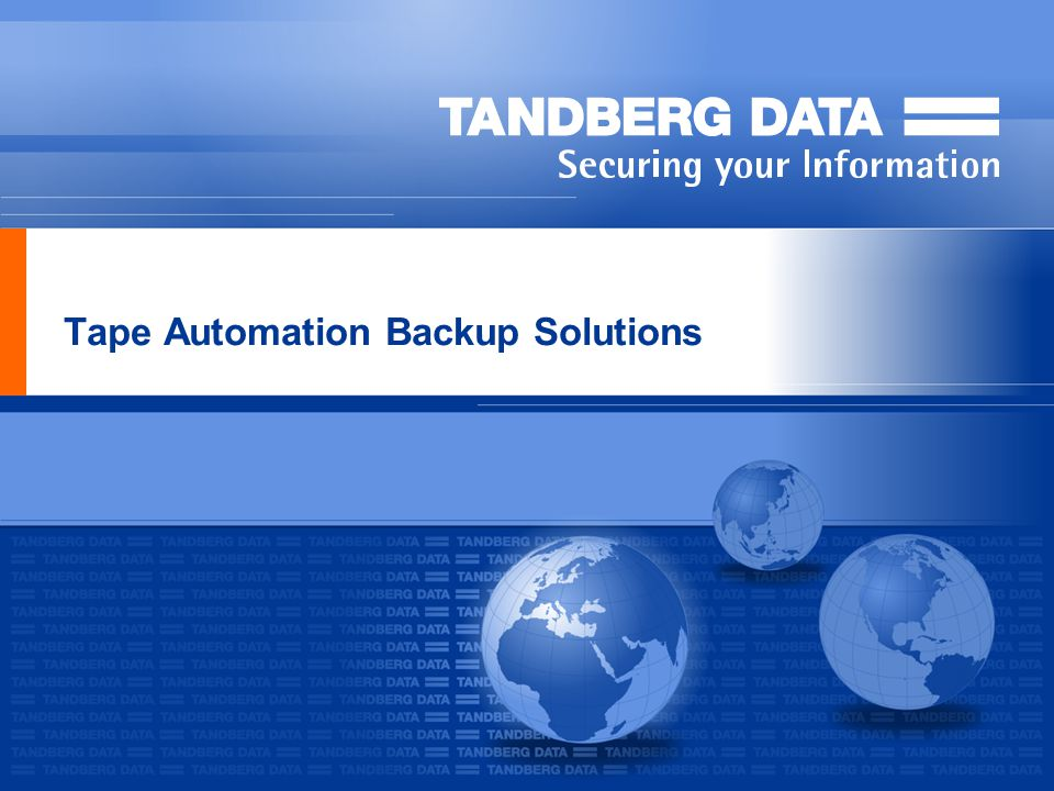 Tape Automation Backup Solutions