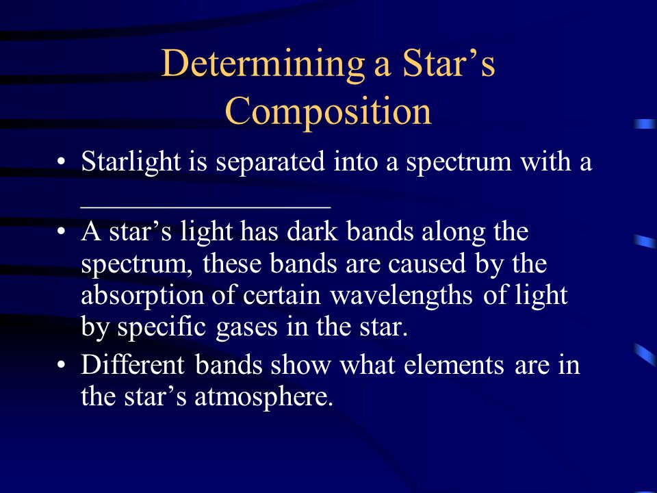 Determining a Star's Temperature A star's temperature can be determined by its ________.