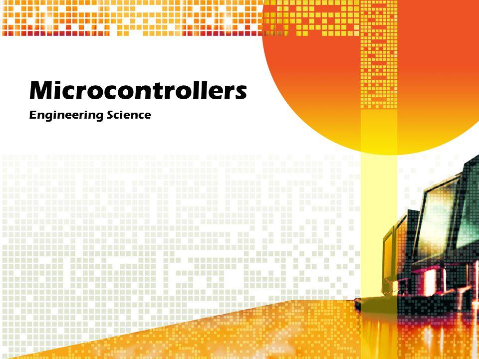 Microcontrollers Engineering Science