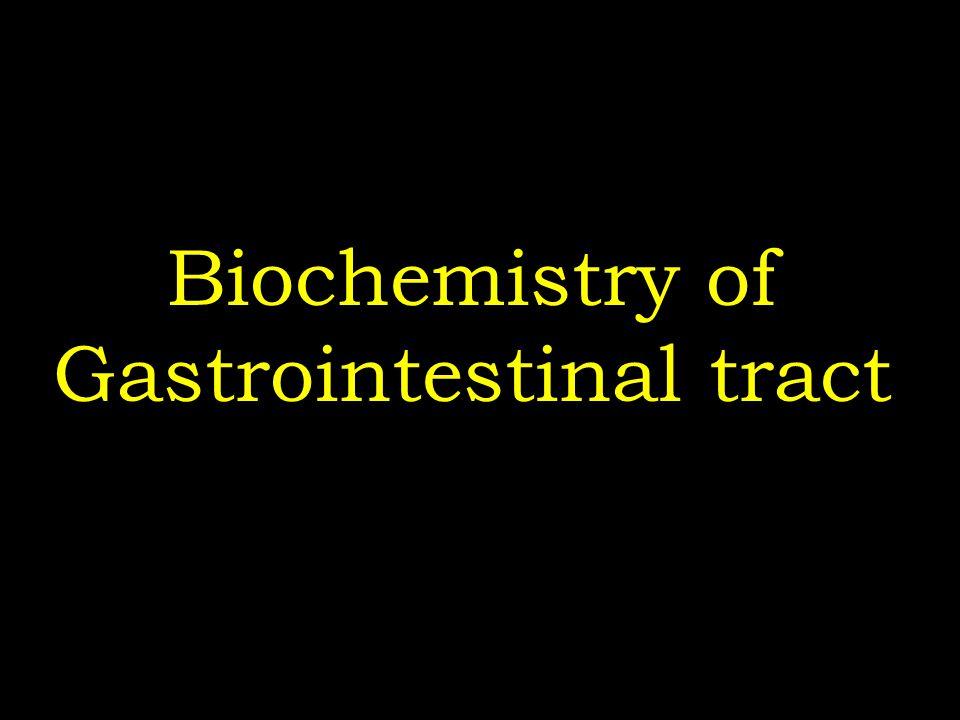 Biochemistry of Gastrointestinal tract